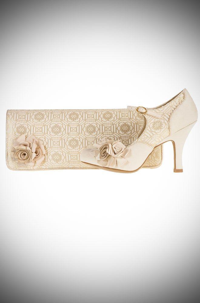 Emily Vintage Style Wedding Shoeatching London Bag