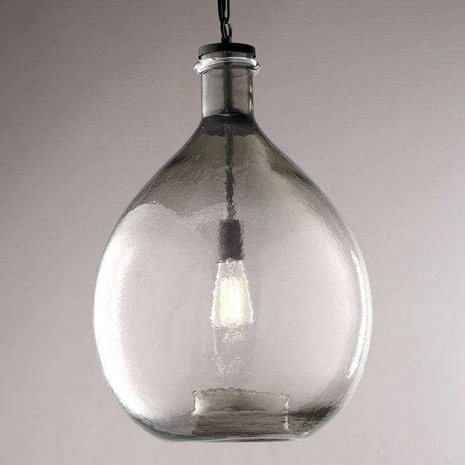 Provence Jug Pendant Glass Pendant Light Large Glass Pendant Oversized Pendant Light