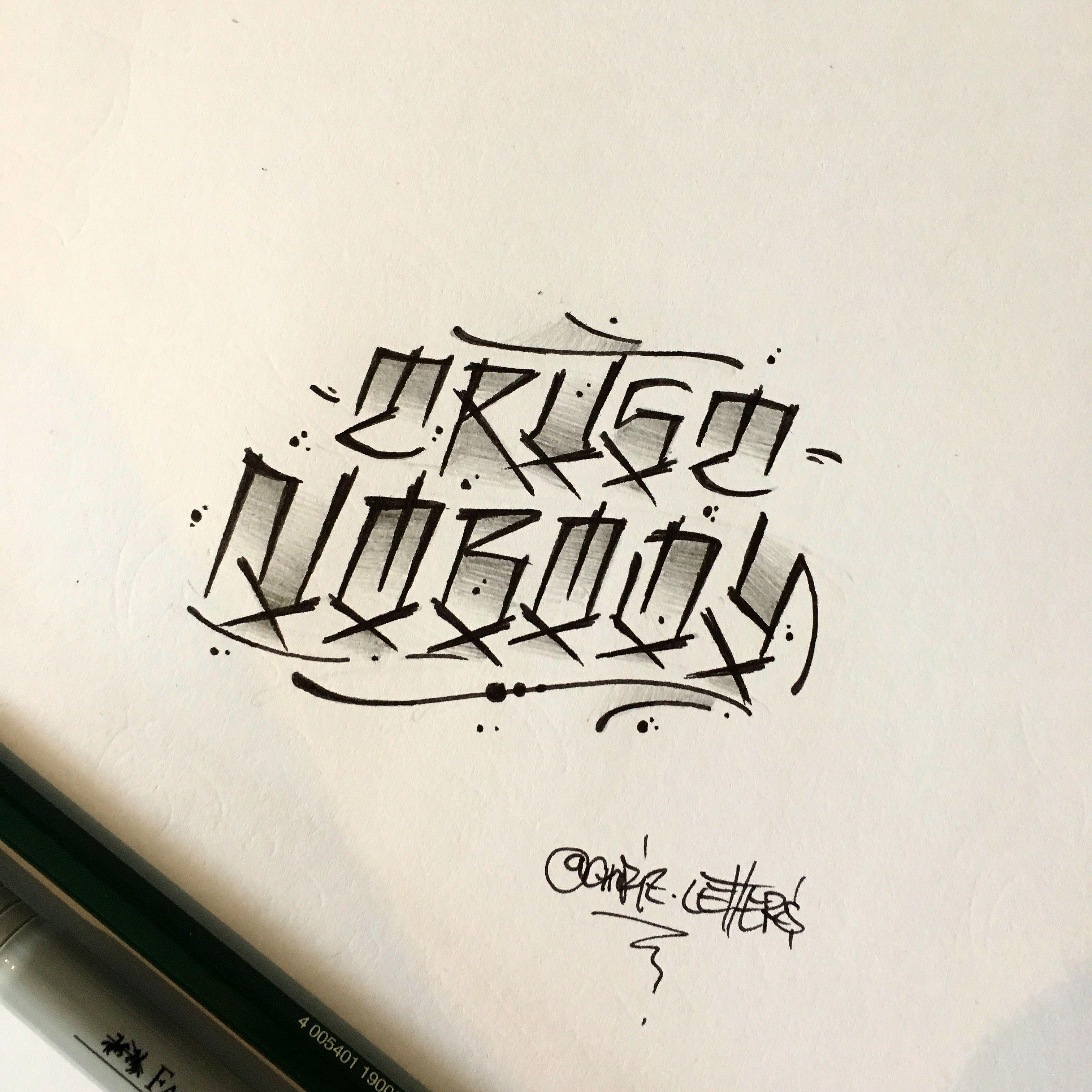 Trust Nobody Graffiti Lettering Tattoo Lettering Lettering Alphabet