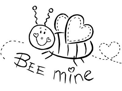 Bee My Valentine Coloring Page Amazing Design