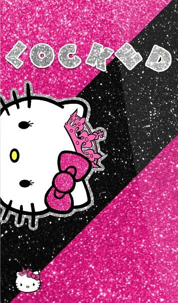 Pink Sparkly Hello Kitty Wallpaper Hello Kitty Iphone