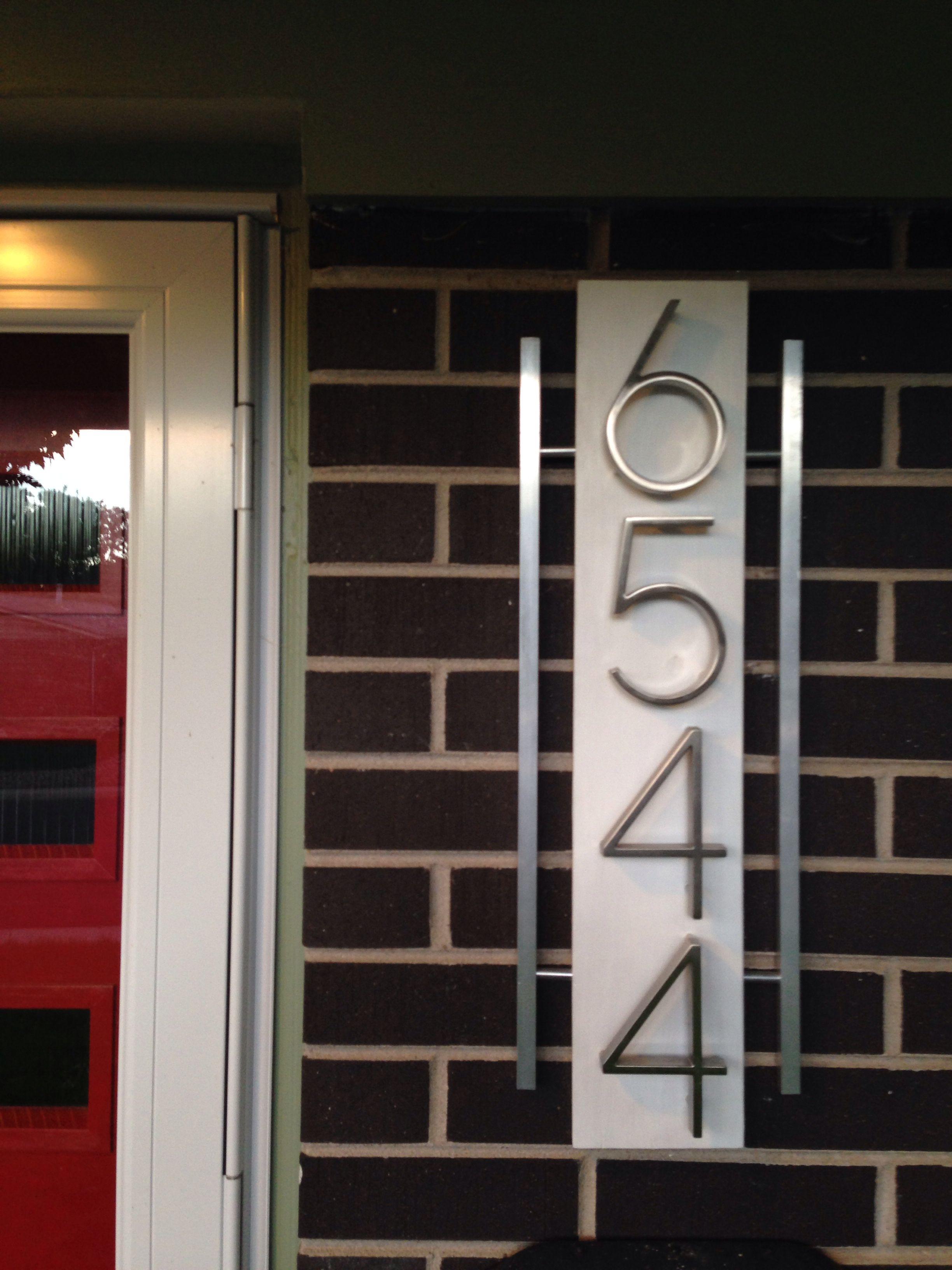 Mid Century Modern House Numbers Mid Century House Midcentury