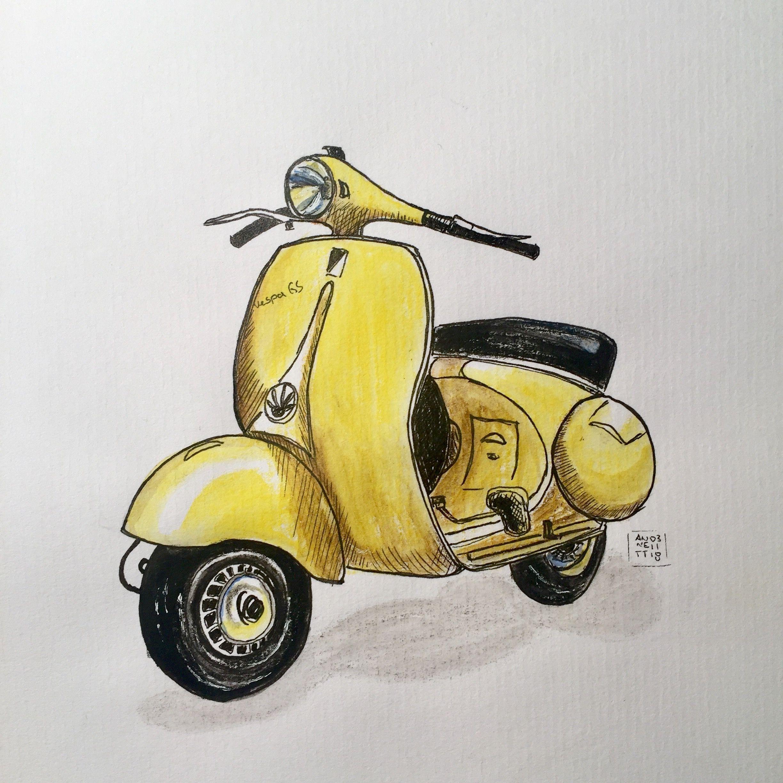 Pin Von Sara Garner Auf Eigene Zeichnungen Own Drawings Kunstzeichnungen Vespa Gs Zeichnungen