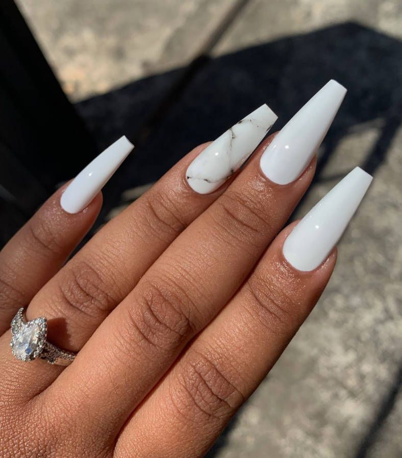 White Nails Acrylic
