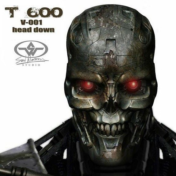 Completed T-600 head design by Scott Patton for Terminator Salvation at Stan Winston Studio. #conceptart #concept #conceptual #artwork #terminator #terminatorsalvation #t600 #robot #stanwinston #stanwinstonstudio #johnconnor