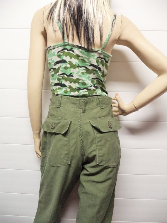 Check out this item in my Etsy shop https://www.etsy.com/listing/210624843/vintage-70s-us-army-high-waisted-army