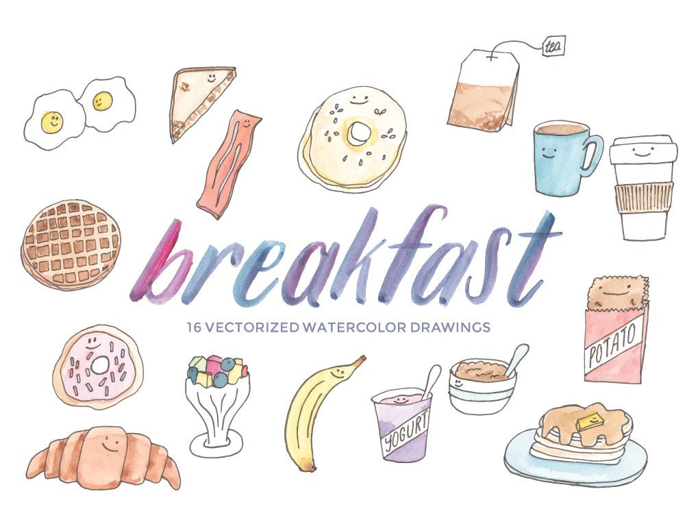 these breakfast food clipart items will help you decorate your
