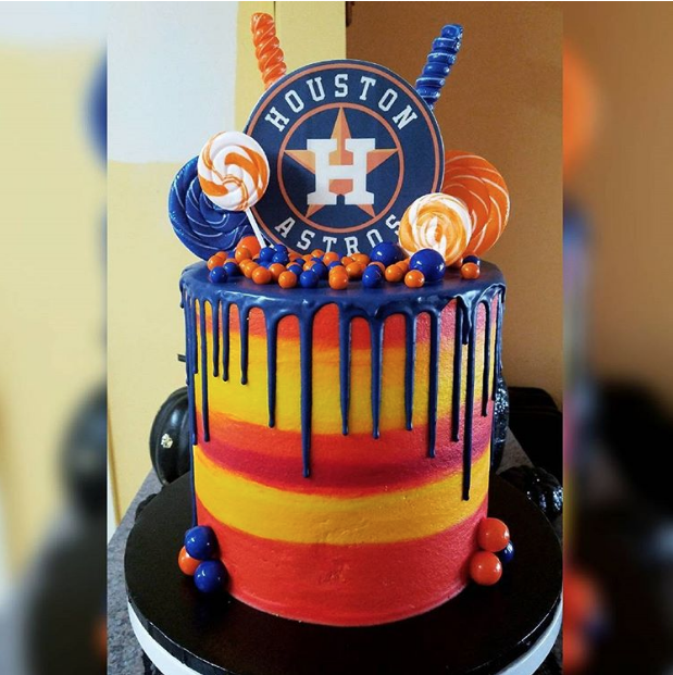Admirable Houston Astros Vs Los Angeles Dodgers World Series Cake Edition Birthday Cards Printable Giouspongecafe Filternl