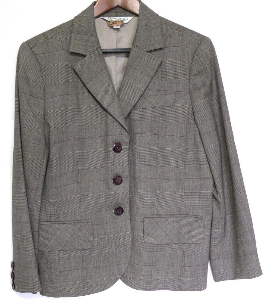 Austin Reed Women Wool Blazer Size 12 Three Button Front Blazer Austin Reed Wool Blazer
