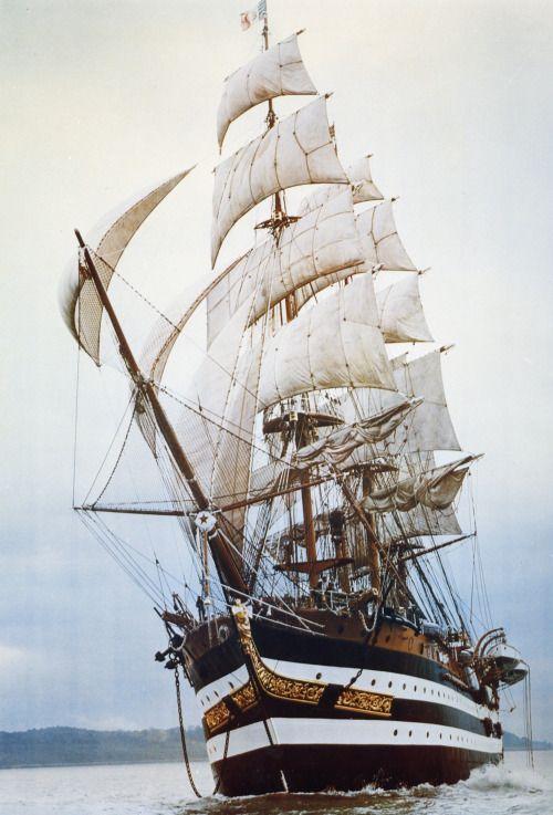 "theravingcelt: "" jade-cooper: "" The Amerigo Vespuccia, a training ship in the Italian Navy, named after the explorer and cartographer Amerigo Vespucci (1452-1512). Its home port is La Spezia, Liguria. "" Apparently whilst sailing in the Mediterranean..."
