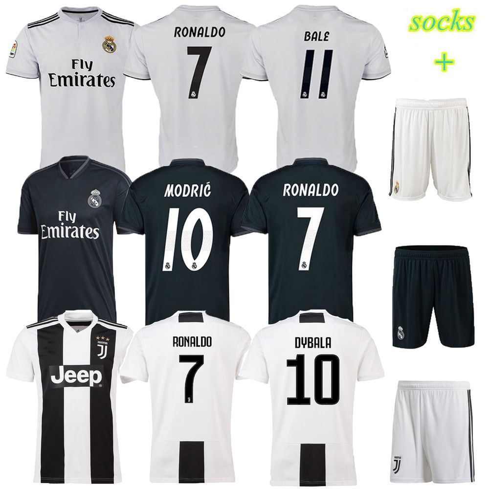 the latest 10946 d27a7 2019 New Soccer Kit Kids Boys 3-12 Years Short Sleeve Jersey ...