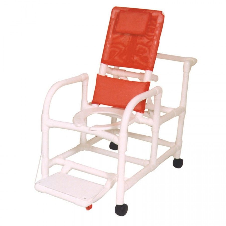 Mjm International - Mjm international echo reclining shower chair with footrest set of e195 3tw and