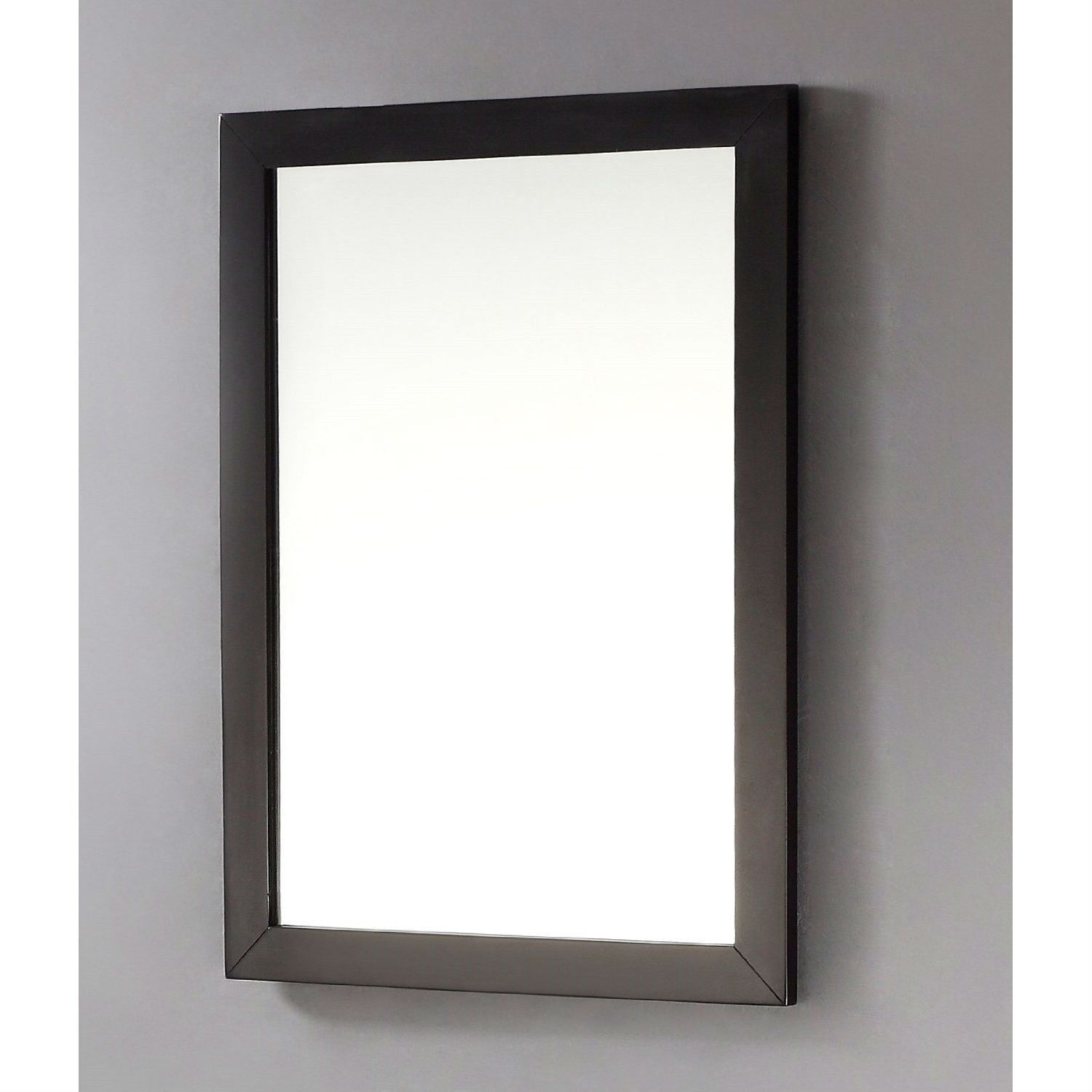 Modern 22 Inch X 30 Bathroom Vanity Wall Mirror With Black Wood Frame