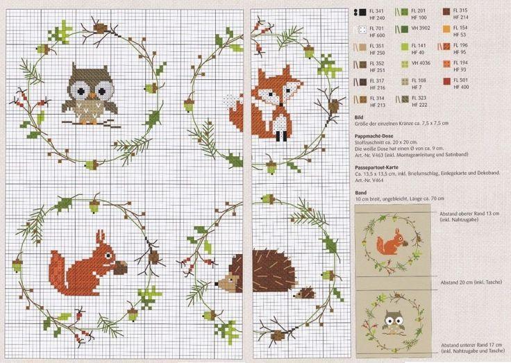 R sultat de recherche d 39 images pour grille broderie gratuite animaux renard broderie - D m c broderie grilles gratuites ...