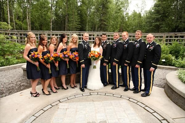 Army Dress Blues Wedding | ... bridesmaid dresses the color ...