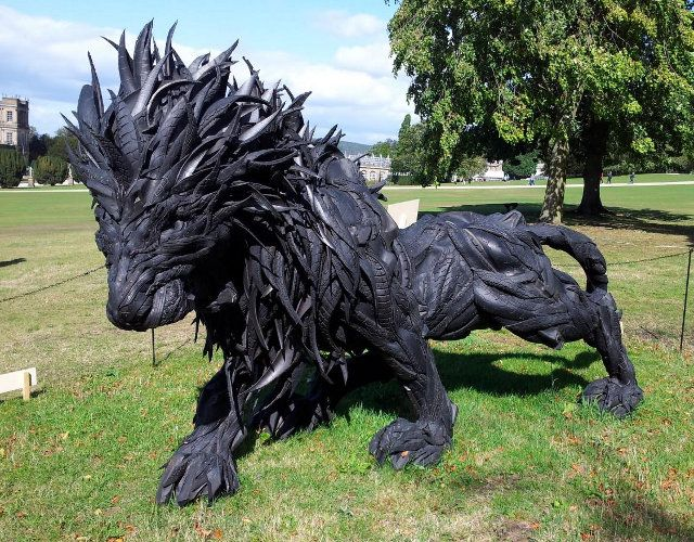 A Lion Made From Tires  | Popular Science