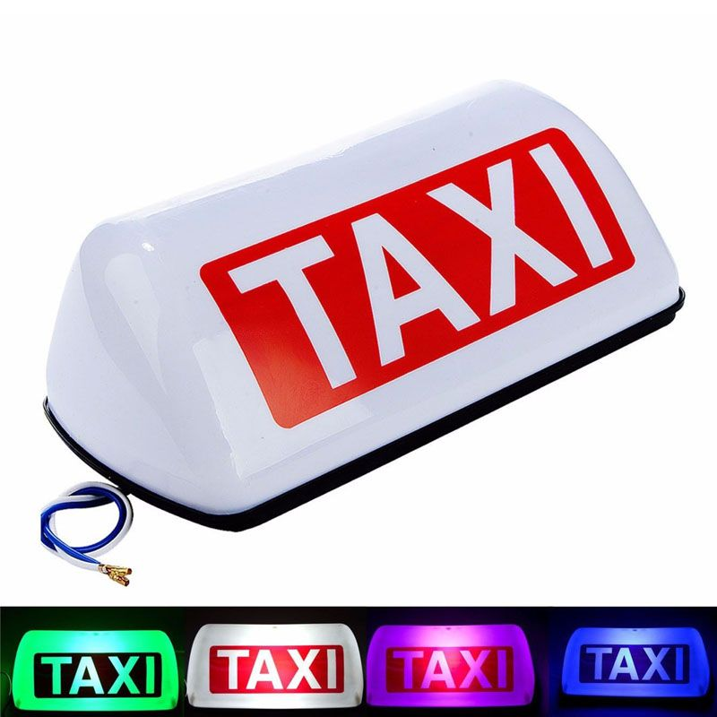 ZYHW Brand 12V 5 LED Taxi Top Light Waterproof Cab Taxi Sign