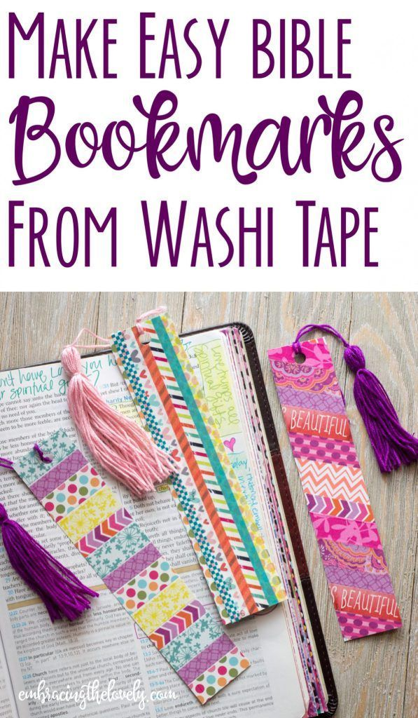 Make These Colorful and Easy Homemade Bookmarks to Decorate your Bible – Kreativ/ Rezepte / Basteln