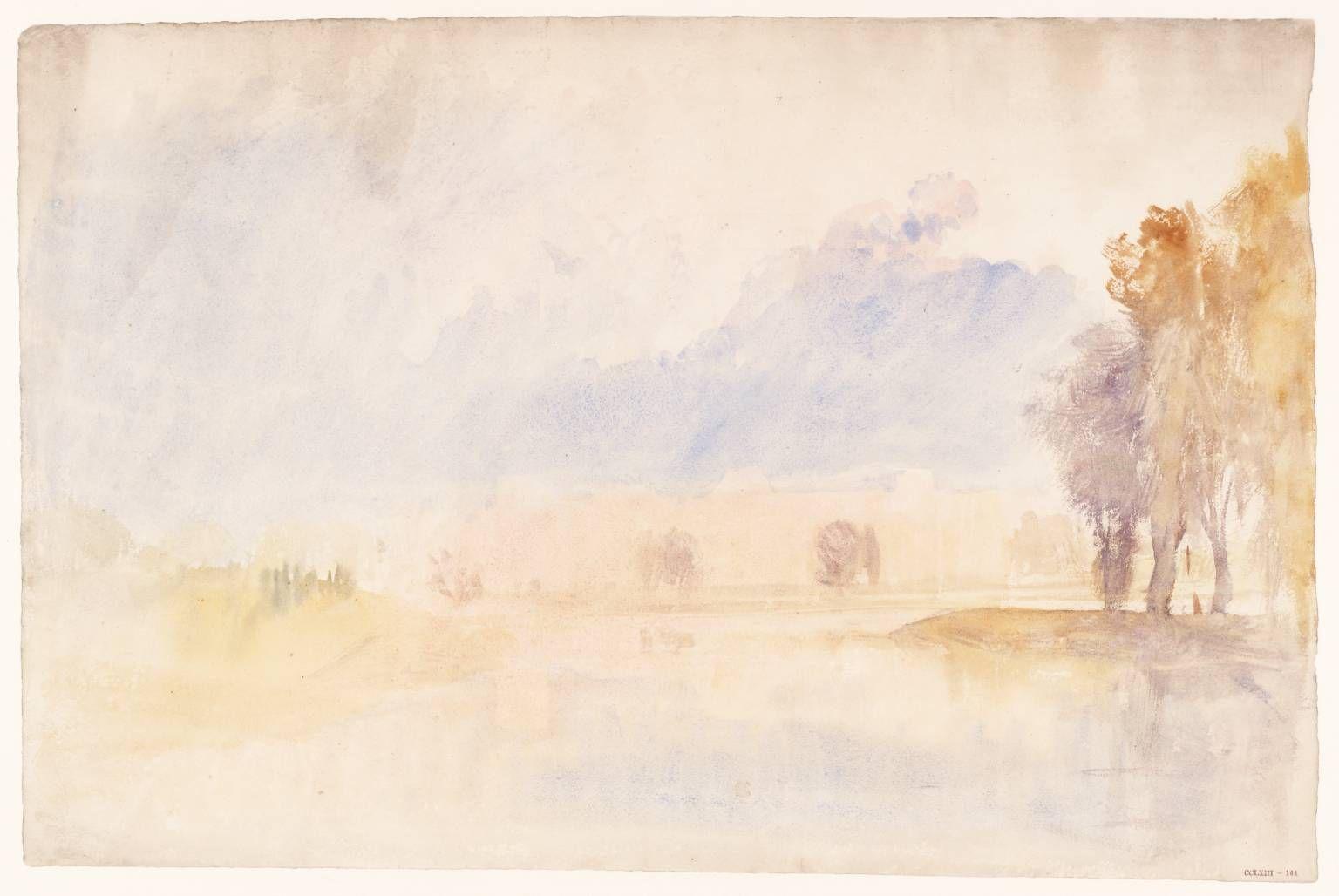 Joseph Mallord William Turner Hampton Court From The River C