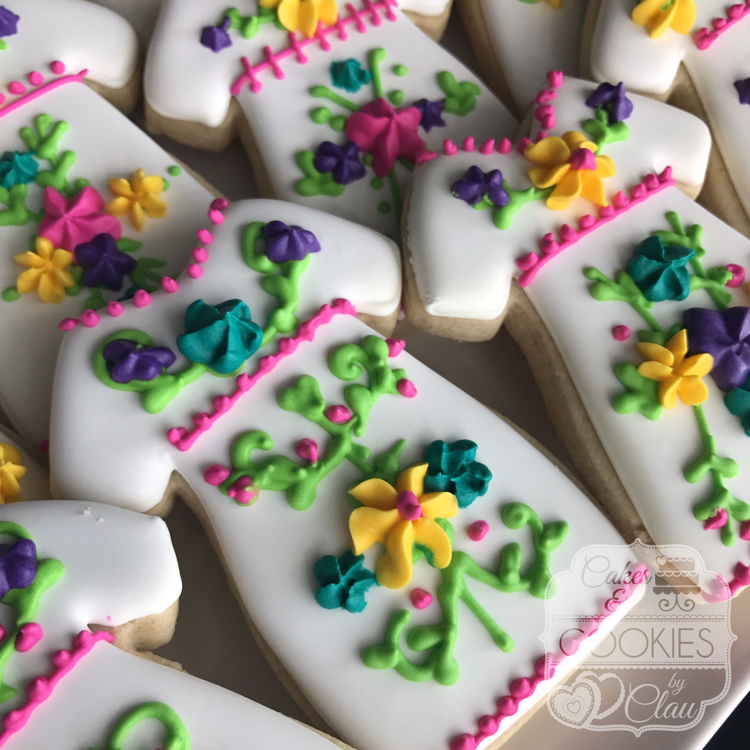 Fiesta Mexican Dress Cookies | My Cookie Creations | Pinterest ...