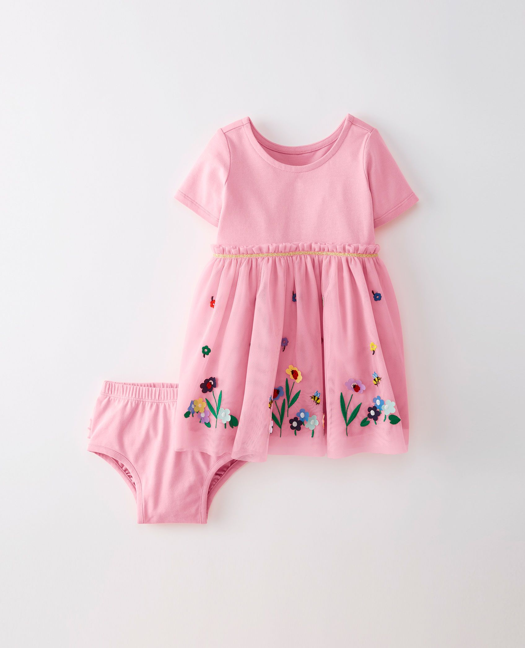 f6154a6f73f9 Appliqué Dress In Soft Tulle | Kid Clothes | Applique dress, Toddler ...