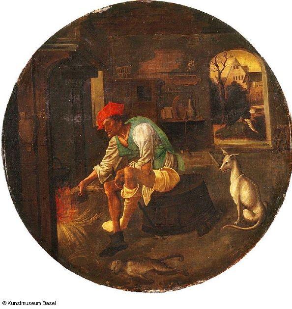 Niederländischer Meister, 16. Jh. Der verlorene Sohn im Elend, um 1520    The Prodigal Son in Poverty
