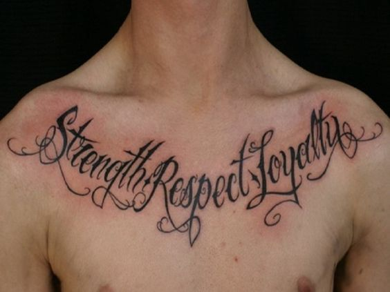 Ambition Chest Tattoo Designs 17 Word Tattoos Quote Ideas Amazing Tattoo Quotes About Life Loyalty Tattoo Chest Tattoo Quotes