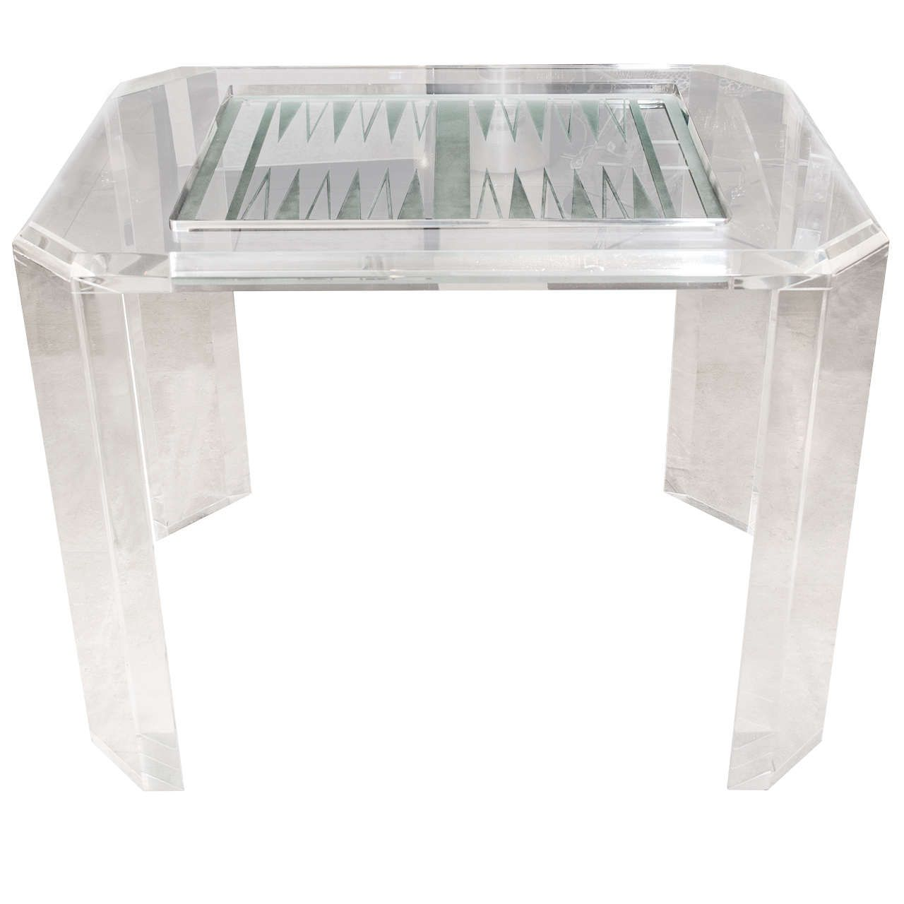Lucite Backgammon Table From A Unique Collection Of Antique And Modern Tables At Https