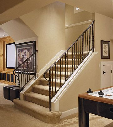Best Basement Stairway Ideas Open Stairs Stair Railing And 400 x 300