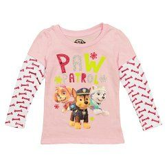 Paw Patrol Holiday Long Sleeve 2fer Toddler
