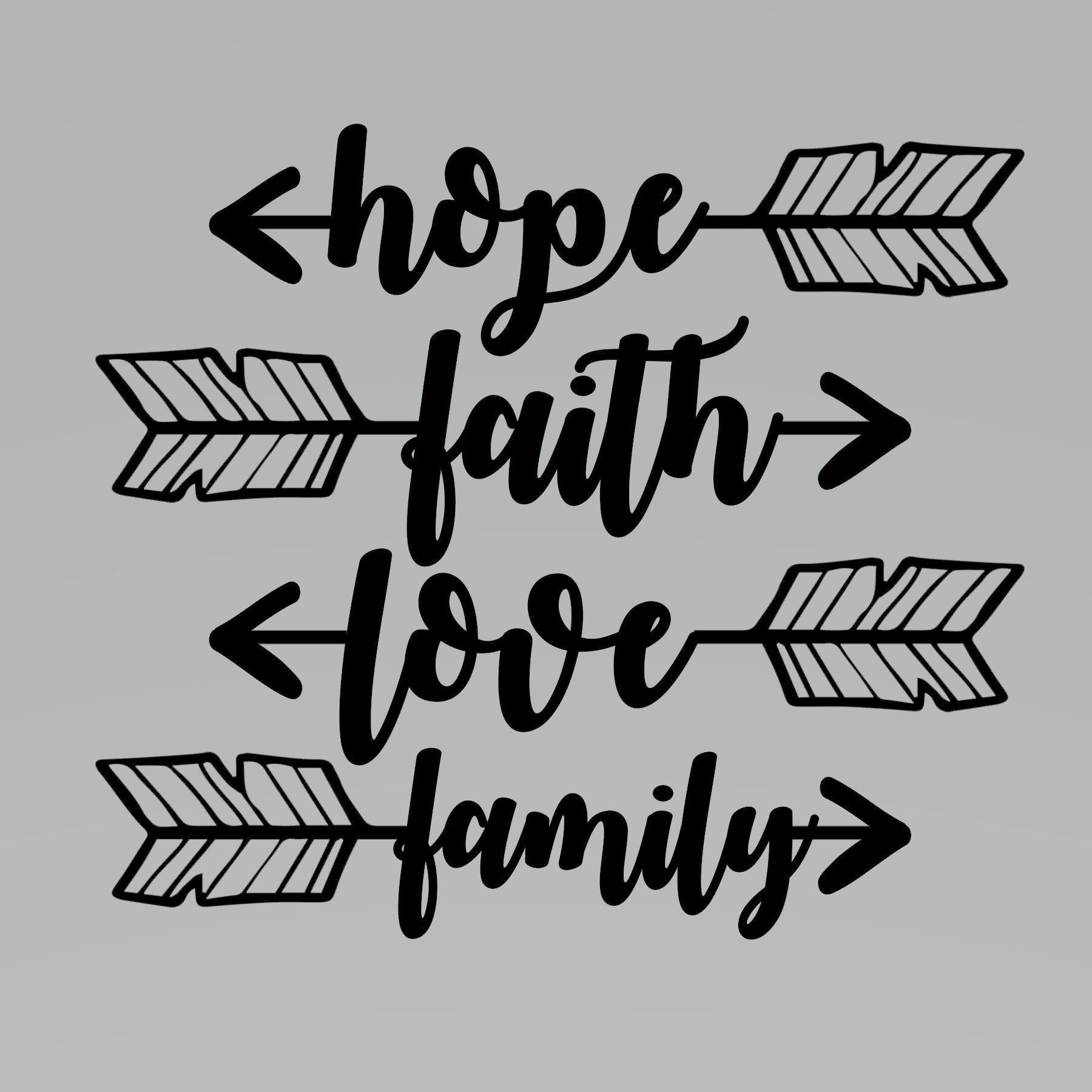 Download Hope,Faith, Love, Family SVG - New Resolution by ...