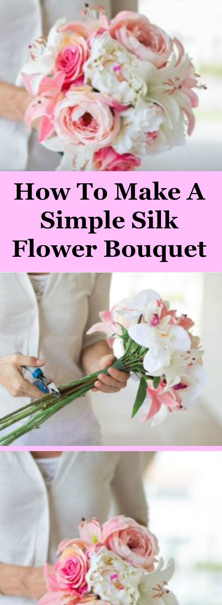 How to make a simple silk flower bouquet silk flower bouquets how to make a simple silk flower bouquet with this video izmirmasajfo