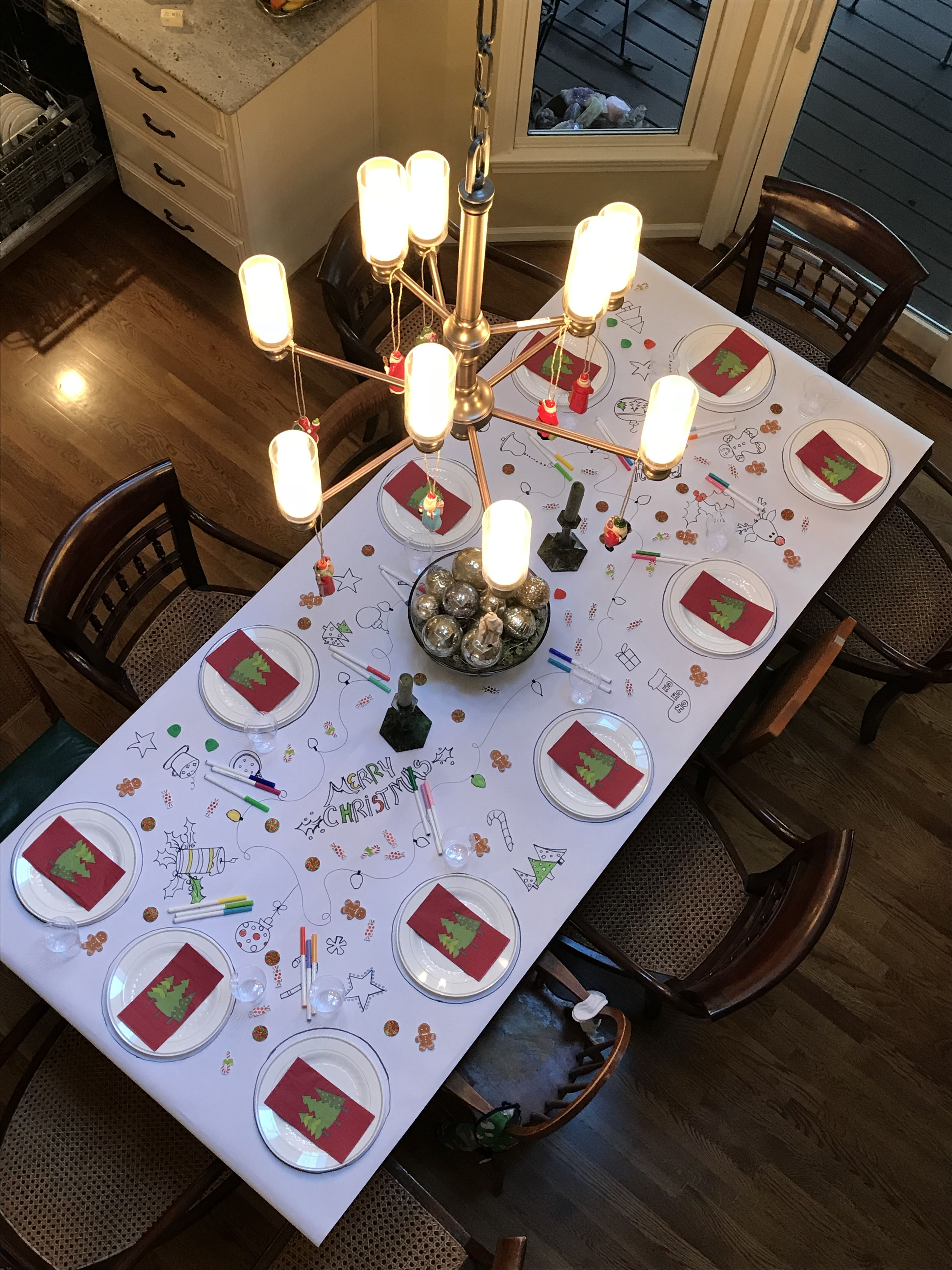 Coloring Tablecloth For Christmas