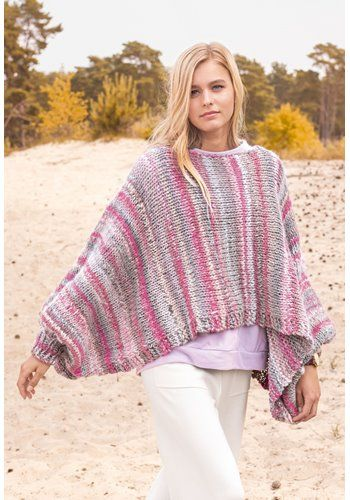 Lana Grossa PONCHO Olympia - OLYMPIA Booklet 2017 - Modell 6 | FILATI.cc Onlineshop