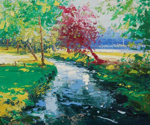 Dappled Light, Bournville Park – Purple Gallery