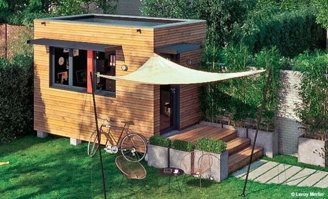 Structure DUn Espace Bureau Construit Au Fond Du Jardin  Espaces