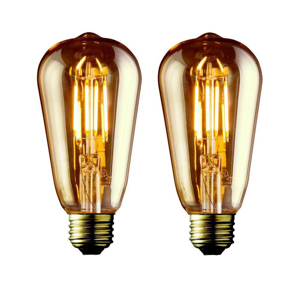 Archipelago 40w Equivalent Warm White St21 Amber Lens Vintage Edison Dimmable Led Light Bulb 2 Pack Dimmable Led Lights Led Light Bulb Dimmable Led