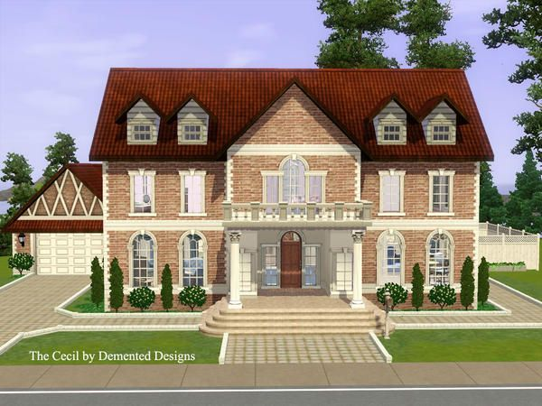 The Sims Resource Tsr The Cecil Luxurious Mansion By Demented Designs Sims 3 Downloads Cc Caboodle Sims 3 Houses Ideas Mansions Sims House