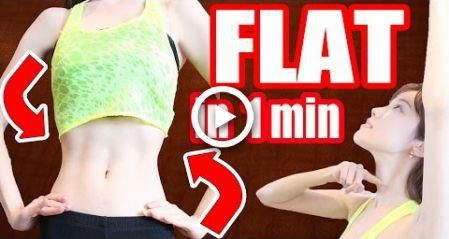 1 Min RoutineGet a FLAT Belly & Tiny Waist in ONE Week! + My Diet Secrets Melodee Morita #fitness #H...