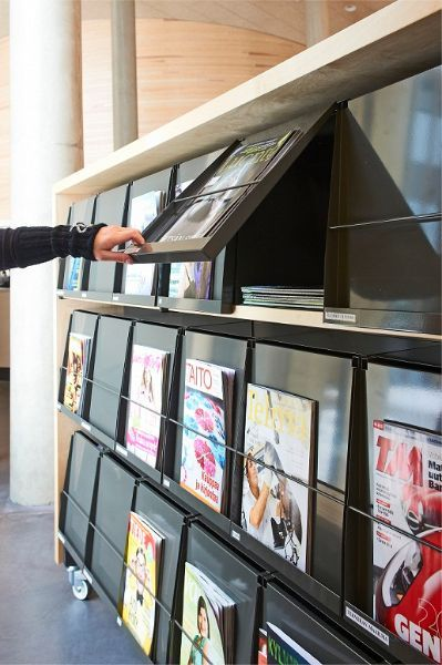 Zeitschriften Klappen Prospektregal Wand   NW_zeitschriftenwand in ...