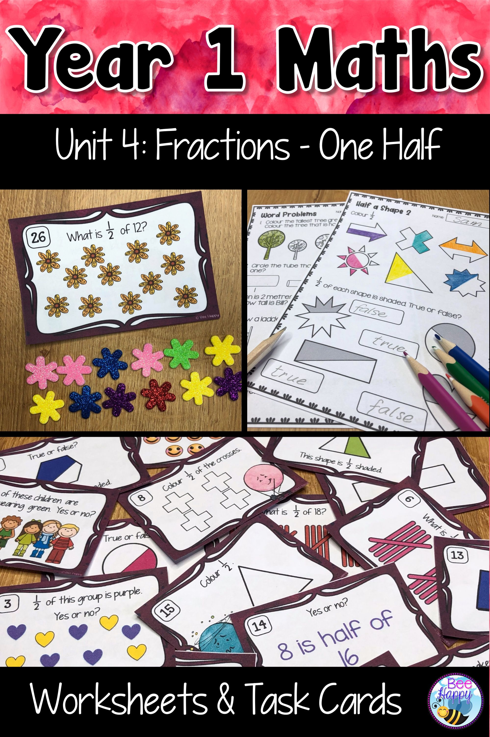 Australian Curriculum Fractions Worksheets And Task Cards