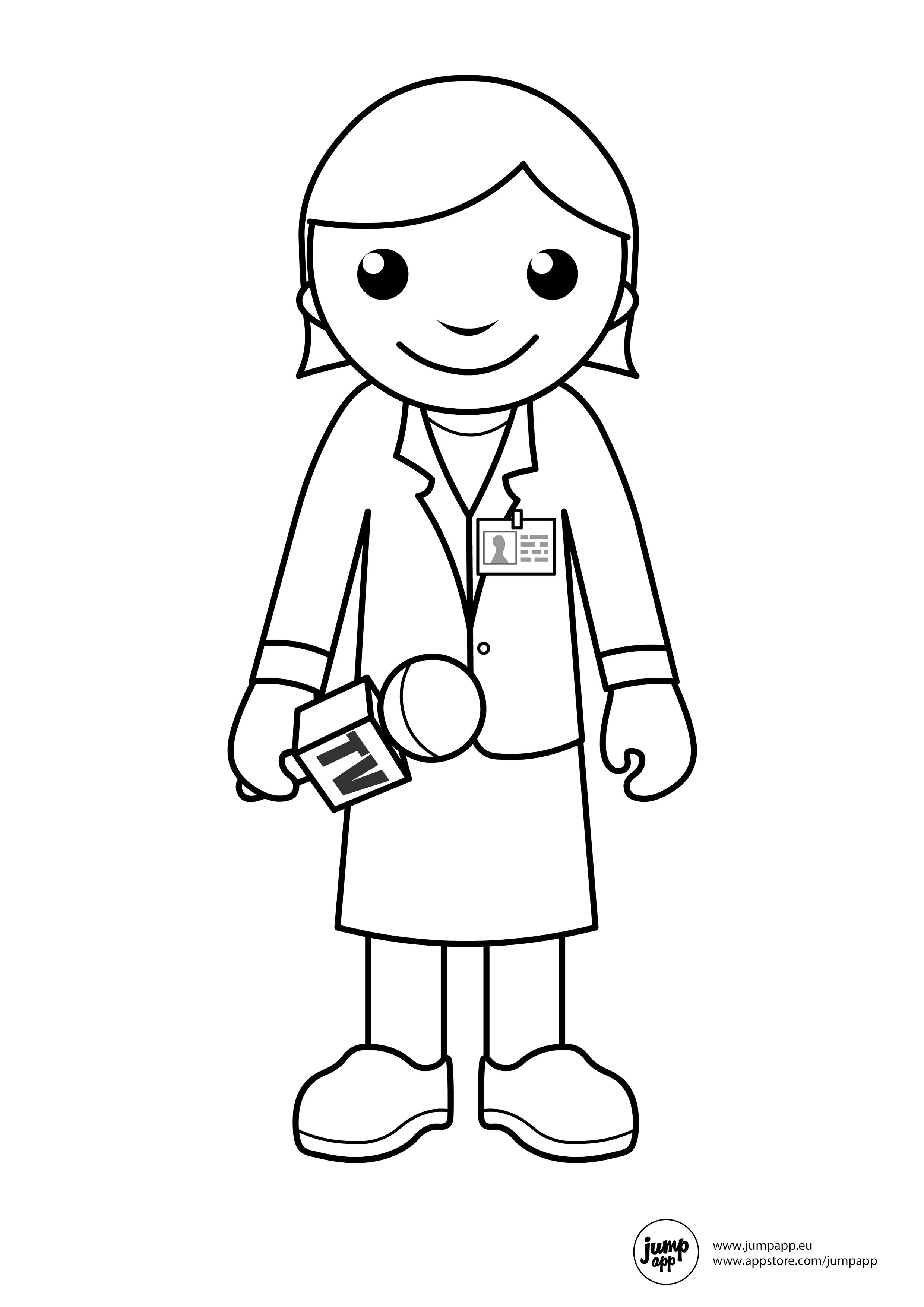 Reporter Printable Coloring Pages Pinterest Community Helpers