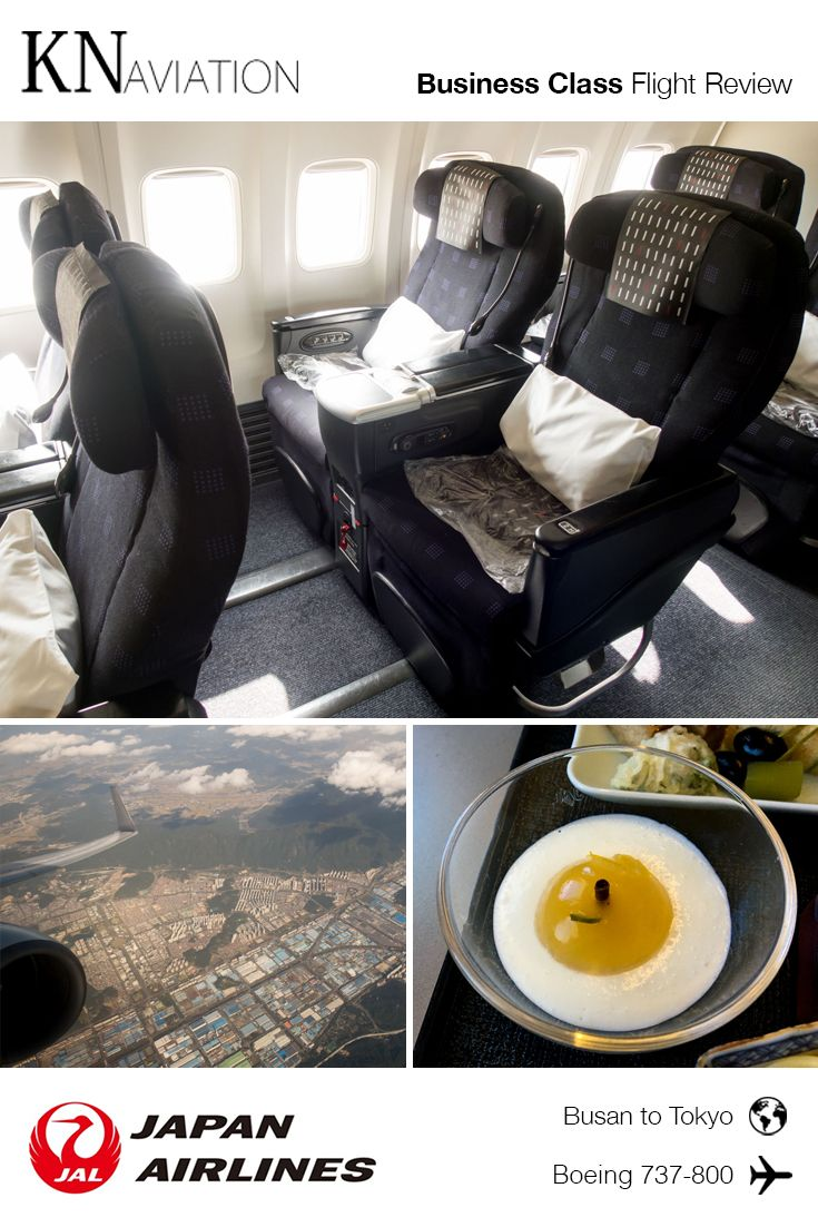 Flight Review JAL 737800 Business Class from Busan to