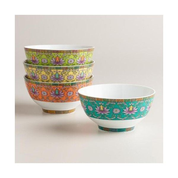 Capture the spirit of simple and elegant Asian-inspired design with our exclusive bowls. Crafted of porcelain they lend a global appeal to your table ...  sc 1 st  Pinterest & Cost Plus World Market Shanghai Rice Bowls ($12) ❤ liked on ...
