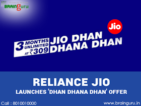 Reliance Jio launches 'Dhan Dhana Dhan' Offer..!!