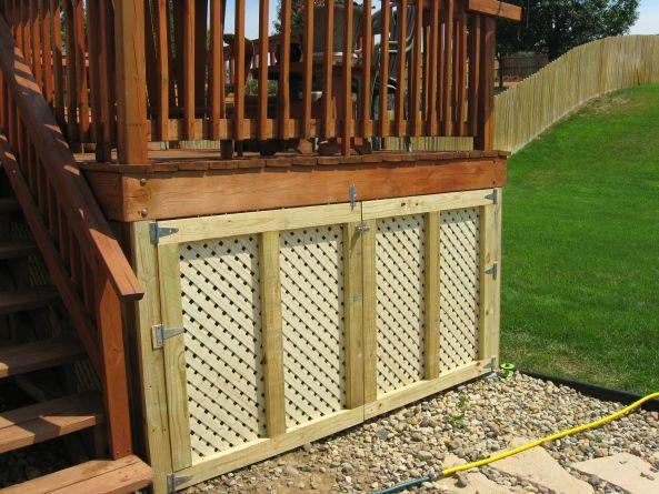 Idea For Storage Area Generator Enclosure Under The Deck