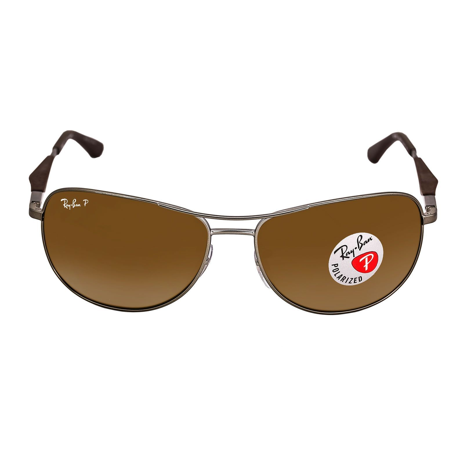 949daa2701 Ray-Ban RB 3519 029-83 59 Men s Polarized Brown Classic B-15 Lenses  Gunmetal Metal Frame Sunglasses