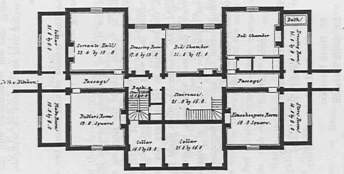 English Mansion House Plans From The 1800s.