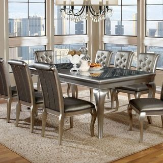 """Shop For Furniture Of America Mora Contemporary Silver 84"""" Dining Adorable Dining Room Furniture Outlet Stores Design Ideas"""