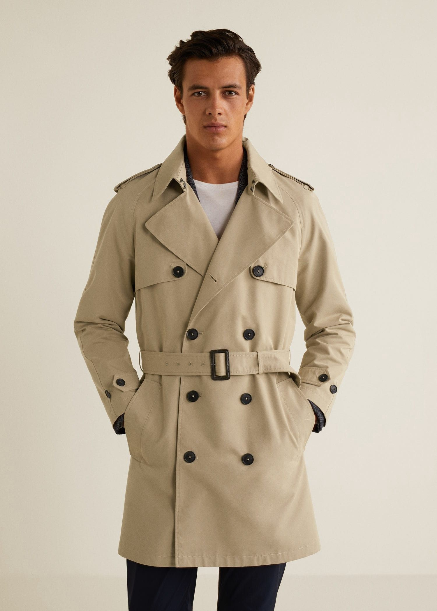 50ac03d482db Mango Classic Cotton Trench Coat - Beige Xs in 2019 | Products ...